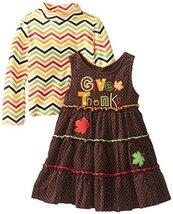 Bonnie Jean Baby Girls Infant 12M-14M Give Thanks Appliqued Jumper Set (12 Mo... image 2