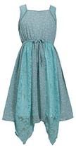 Big-Girls TWEEN 7-16 Mint-Green Hanky Hem Mix Media Lace Chiffon Dress, 10, M...