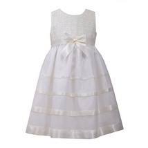 Bonnie Jean Little Girls' Lace Ribbon Dress (4T) [Apparel]