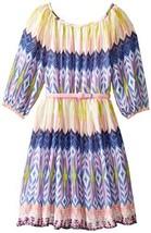 Bonnie Jean Little Girls' Novelty Print Peasant Dress, Blue, 6 [Apparel]