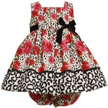 Bonnie Baby Baby-Girls Newborn Pleated Bodice Empire Waist Dress With Roses P... image 2