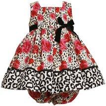 Bonnie Jean Baby 3M-24M RED IVORY BLACK ROSE LEOPARD ANIMAL PRINT DRESS (3/6M... image 2