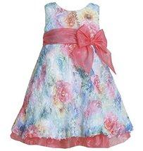 Fuchsia Blue Multi Die Cut Floral Print Mesh Overlay Dress FU2HA, Fuchsia, Bo...