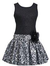 Bonnie Jean Little Girls Shimmer Knit to Metallic Jacquard Drop Waist Dress (... image 2