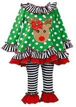 Bonnie Jean Baby-Girl Infant 12M-24M Jeweled Ornament Reindeer Dress/Legging ... image 1