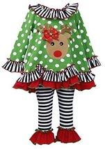 Bonnie Jean Baby-Girl Infant 12M-24M Jeweled Ornament Reindeer Dress/Legging ... image 2