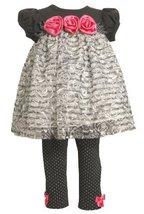 Bonnie Baby Baby-Girls Newborn Knit Bodice With Ruffles And Satin Flowers Wit...