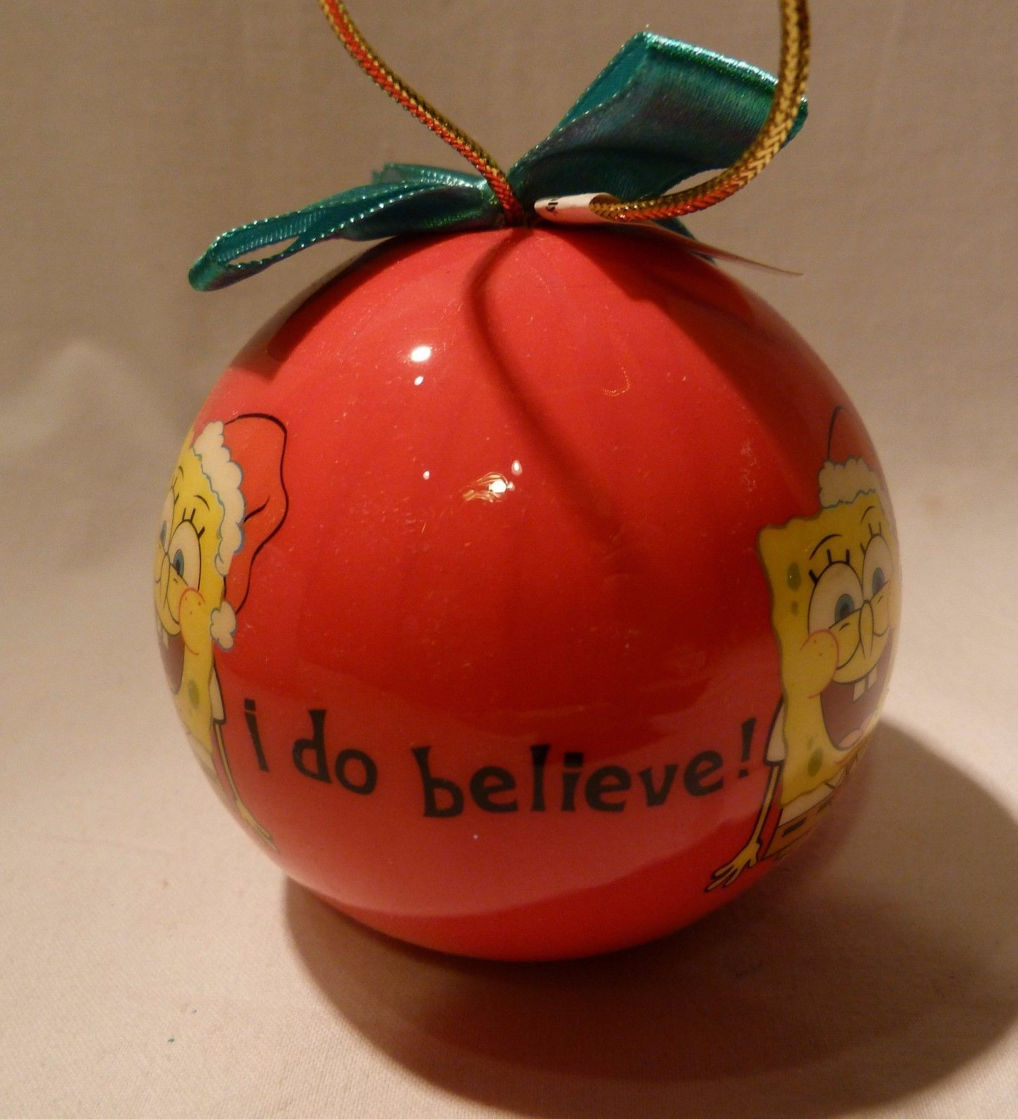 """SpongeBob Squarepants Christmas Ornament """"I Do Believe"""""""