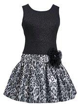 Little Girls 4-6X Shimmer Knit to Metallic Jacquard Drop Waist Dress, SL3BU, ...