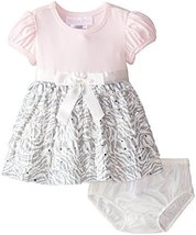 Baby Girls 3M-24M Pink Knit to Spangled Zebra Eyelash Dress (12 Months, Pink) image 2