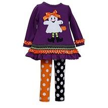 Bonnie Baby-Girls 3M-24M Trick Or Treat Legging Set (24 Months, Purple/Multi)
