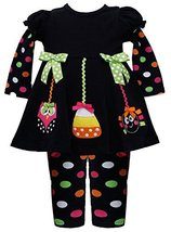 Halloween Ornaments' Applique Dress / Legging Set BK0SI,Bonnie Jean Baby-Newb... - $28.61