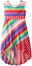 Bonnie Jean Big Tween Girls' Multi Stripe Knit Maxi Dress (12, Red) [Apparel]