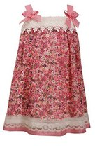 Little-Girls 2T-6X Pink Purple Lace Border Floral Print Chiffon Shift Dress, ... image 1