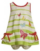Size-12M, Green, BNJ-2321M, Green Glitter Sequin Butterfly Screen Print Dress...