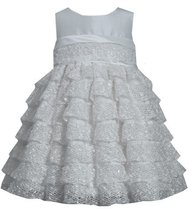 Bonnie Jean Little Girls' Lace Tiered Dress, Ivory, 2T [Apparel]
