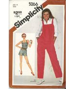 Simplicity 5266 Misses Jumpsuit in two lengths Size 6 - Uncut - $2.00