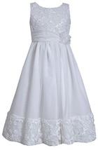 Big-Girls Tween 7-16 Soutache Bodice Border Flower Girl Communion Dress/Coat ...
