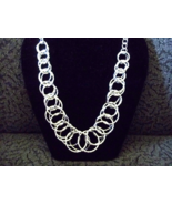 Silver Chainmaille Statement necklace - $20.00