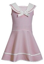 Bonnie Jean Little Girls' Check Coat and Dress Set, Pink, 5 [Apparel] Bonnie ...