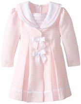 Bonnie Jean Little Girls' Check Coat and Dress Set, Pink, 5 [Apparel] Bonnie ... image 2
