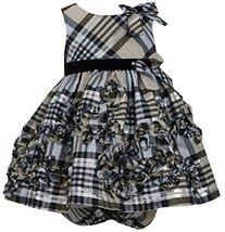 Baby-Girls Infant 12M-24M Gold Metallic Plaid Bonaz Taffeta Dress, GD1MH, Gol...