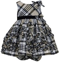 Baby-Girls Infant 12M-24M Gold Metallic Plaid Bonaz Taffeta Dress, GD1MT, Gol...