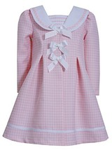 Little-Girls 2T-6X Pink Triple Bow Jacquard Houndstooth Dress/Coat Set, Bonni...