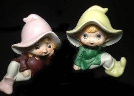 Vintage Whimsical Adorable Homco Elf / Pixie Figurines - 1970s Collectible - $15.00