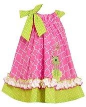 Bonnie Jean Little Girls' Frog Appliqued Sundress, Pink, 5 [Apparel]