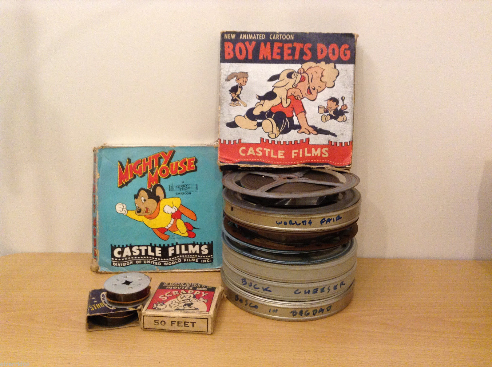Collection of 12 Vintage 1930's-40's 16 mm film Home Movies for projector