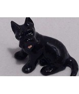 Ceramic miniature black Scottish Terrier Scotty dog - $22.51