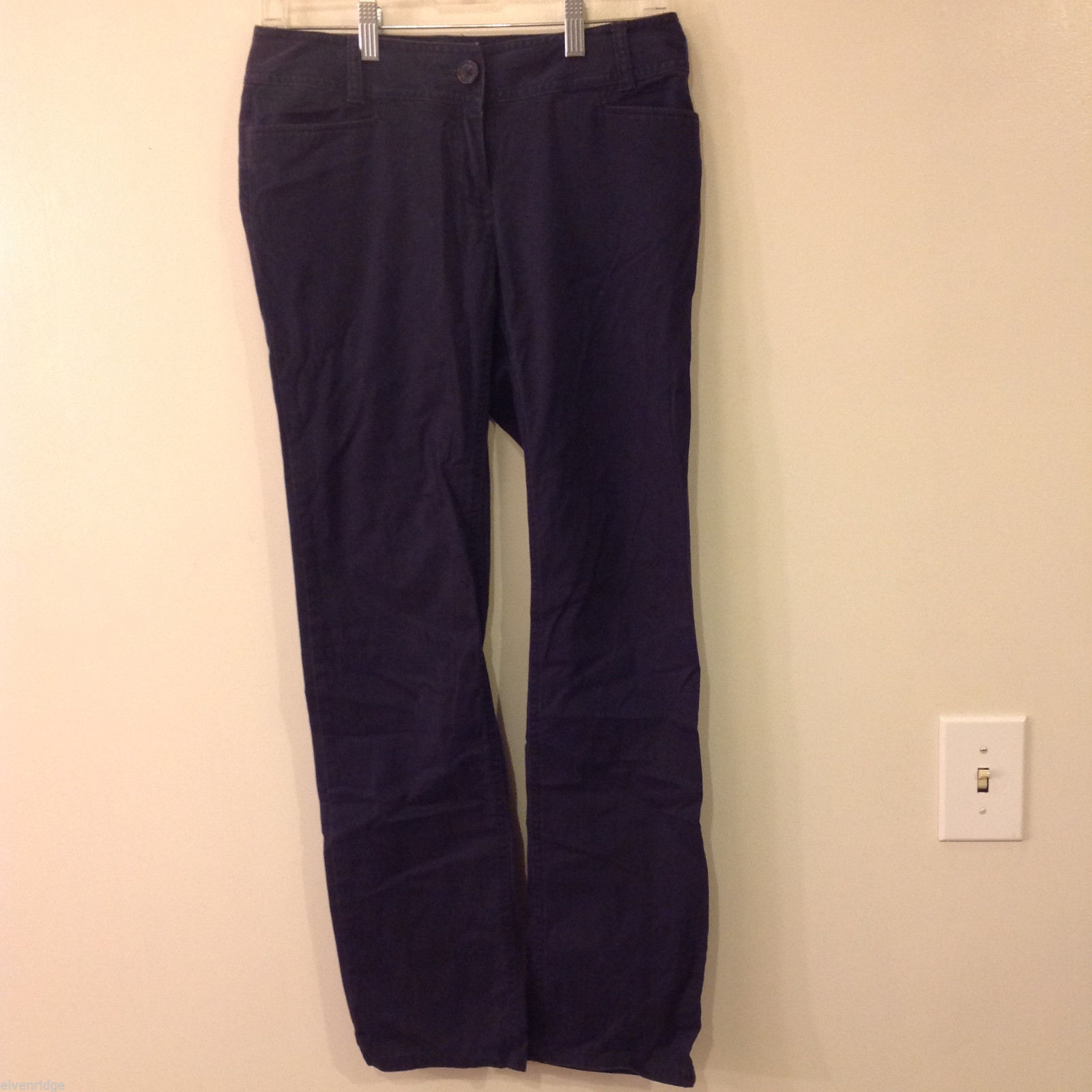 J. Jill Womens' Dark Navy Pants with stretch, missing or removed tag, Size 10-12