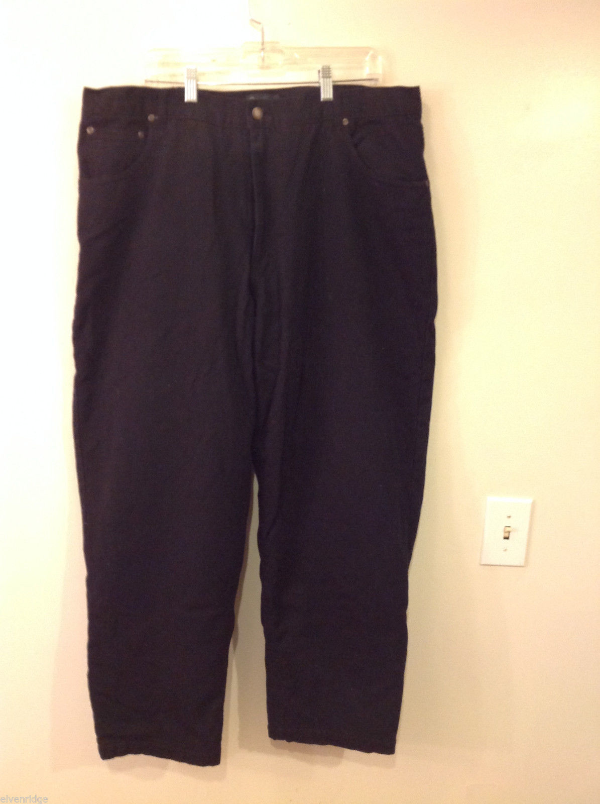 Scandia Woods Brand 42M Mens' Used Black Jeans w/ Faux Fleece Lining