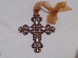 Vintage Look  Cross Ornament w sparkly  stones  NEW - $39.99
