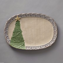 Jim Shore River's End Large Christmas Tree Serving Platter  New in Box