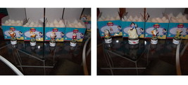 Snow White & 7 Dwarfs Hinged Box Set 8 Disney Porcelains  PHB original b... - $382.17