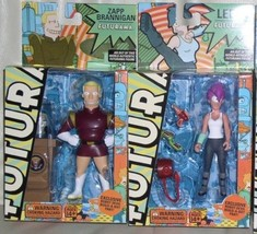 Futurama LEELA and ZAPP Robot Devil Build Bot 2 Action Figures Toynami S... - $175.99