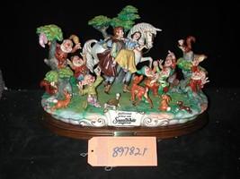 Capodimonte Snow White  Prince  7 Dwarfs &  Friends Restored #897821 Dis... - $2,087.55