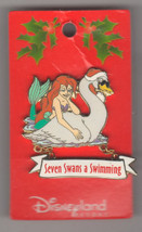 Ariel dangle Seven Swans a Swimming Authentic Disney Little Mermaid  Pin on card - $149.99