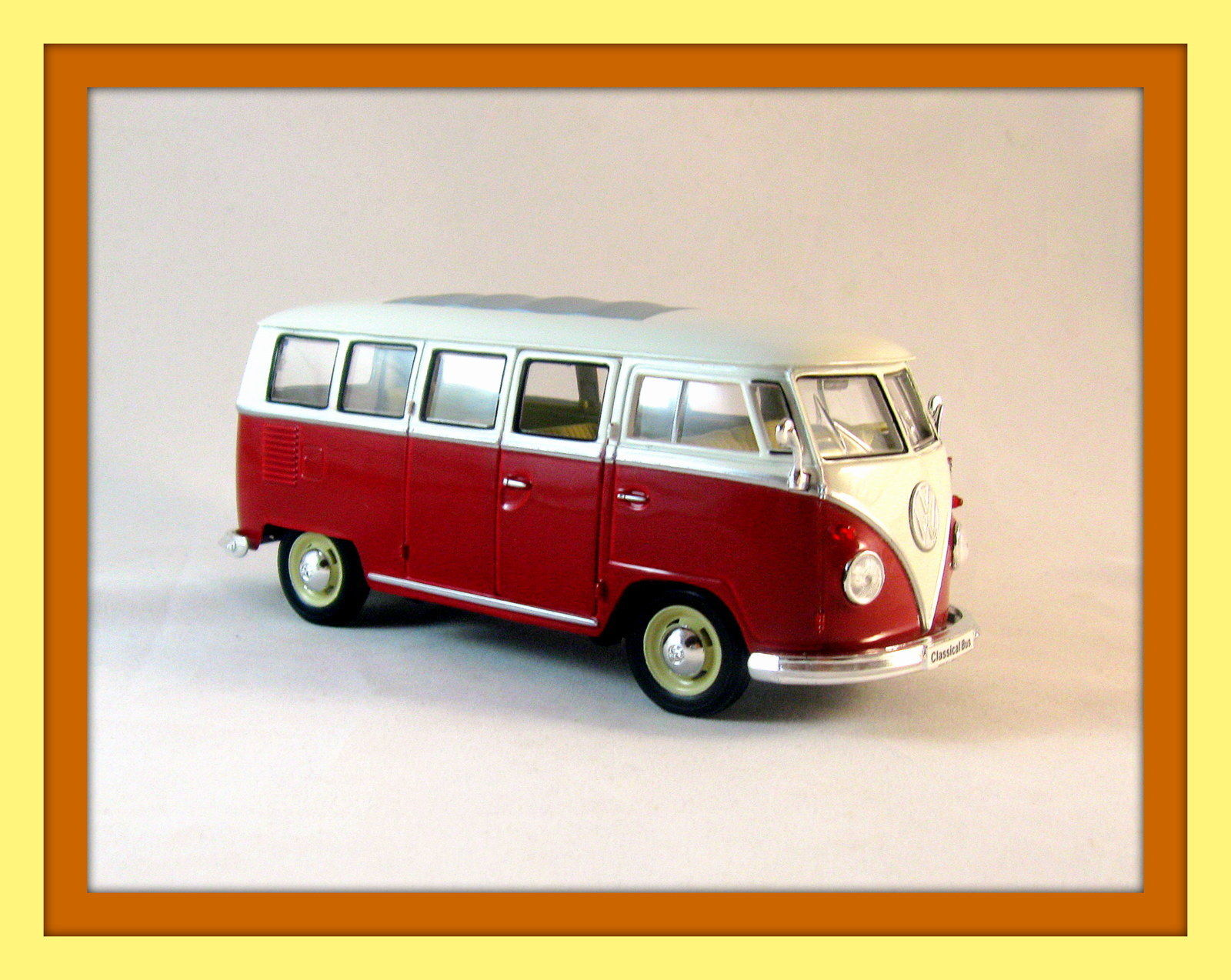 1963 volkswagen t1 bus bordeaux welly 1 24 diecast car collector 39 s model new contemporary. Black Bedroom Furniture Sets. Home Design Ideas