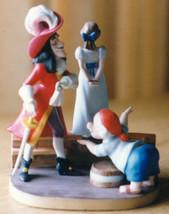 Peter Pan Captain Hook Wendy walking the plank Disney Villain Porcelain - $237.04