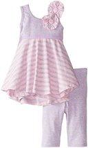 Bonnie Baby Baby Girls' Stripe Knit Criss Cross Back, Grey, 12 Months [Apparel]