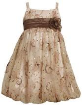 Bonnie Jean Little Girls' Sequin Bubble Dress, Pink, 6 [Apparel]