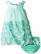 Bonnie Jean Little Girls 2T-6X Turquoise Bonaz Rosette Bubble Trapeze Dress (... image 2