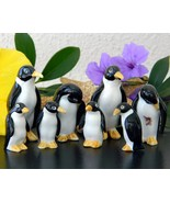 Vintage penguin family two sets bone china japan black white figurines thumbtall