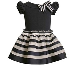 Bonnie Jean Little Girls' Knit Top To Ribbon Skirt,Navy,2T [Apparel]