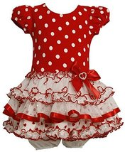 BabyGirls Infant Knit Bodice To Drop Waist Tiered Skirt, Bonnie Baby