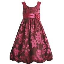 Bonnie Jean Big Girls' Burnout Bubble Dress, Fuschia, 8 [Apparel]