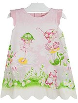 Baby Girls Pink Garden Fairy Print A-line Dress, Mayoral, Geranium, 12M